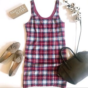 New! Abercrombie &Fitch Plaid Flannel Jumper Dress